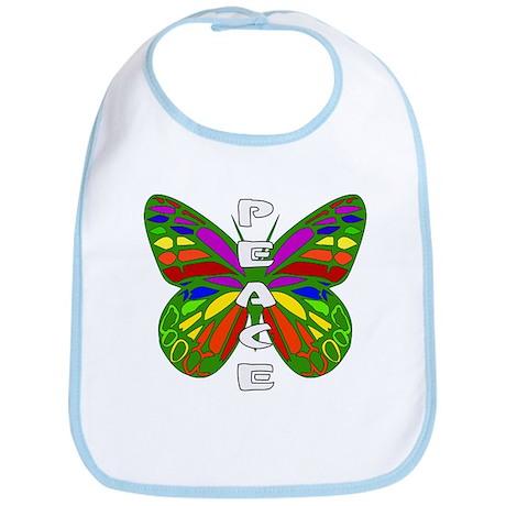 Peace Butterfly Bib