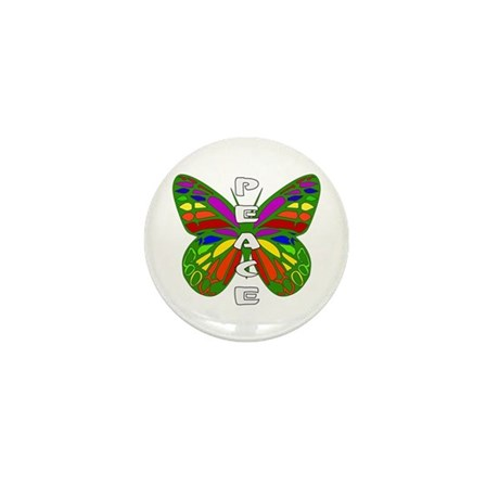 Peace Butterfly Mini Button