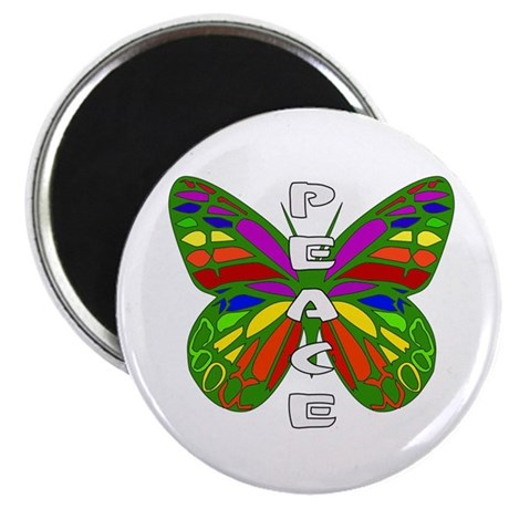 """Peace Butterfly 2.25"""" Magnet (100 pack)"""