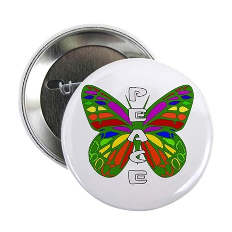 """Peace Butterfly 2.25"""" Button"""