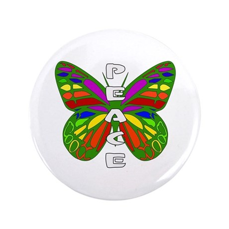 "Peace Butterfly 3.5"" Button"