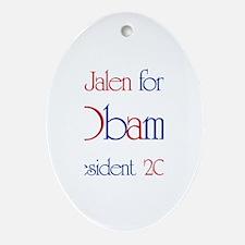 Jalen for Obama 2008 Oval Ornament