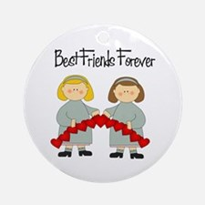 BFF Hearts-Best Friends Ornament (Round)