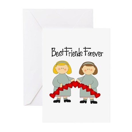 BFF Hearts-Best Friends Greeting Cards (Pk of 20)