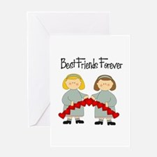 BFF Hearts-Best Friends Greeting Card