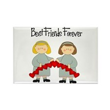 BFF Hearts-Best Friends Rectangle Magnet (100 pack