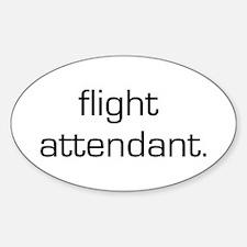 Flight Attendant Oval Decal