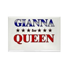 GIANNA for queen Rectangle Magnet