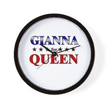GIANNA for queen Wall Clock