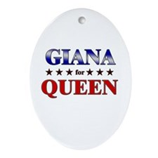 GIANA for queen Oval Ornament