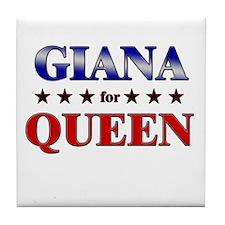 GIANA for queen Tile Coaster