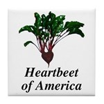 Heartbeet of America Tile Coaster