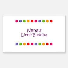 Nana's Little Buddha Rectangle Decal