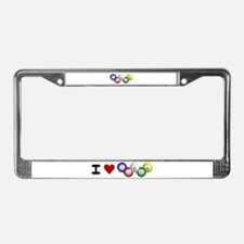 I LUV BINGO License Plate Frame