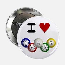 """I LUV BINGO 2.25"""" Button"""