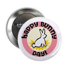 "Happy Bunny Day! 2.25"" Button"