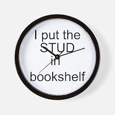 stud in bookshelf Wall Clock