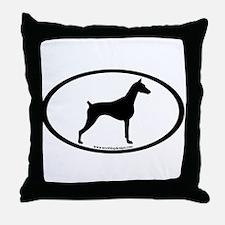 Doberman Pinscher Oval Throw Pillow