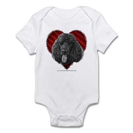 Black Poodle Valentine Infant Bodysuit