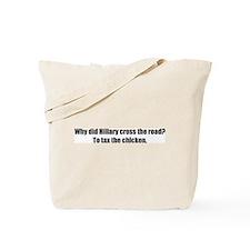 Why did Hillary cross the roa Tote Bag