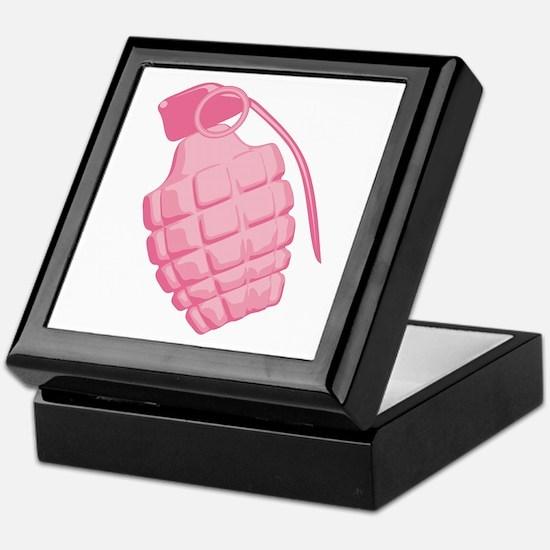Pink Grenade Keepsake Box