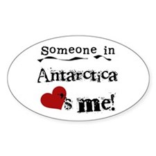 Antarctica Loves Me Oval Decal