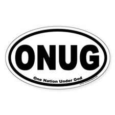 One Nation Under God ONUG Oval Decal