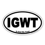 In God We Trust IGWT Oval Sticker