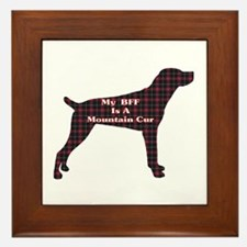 BFF Mountain Cur Framed Tile