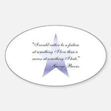 Inspirational George Burns Quote Oval Decal