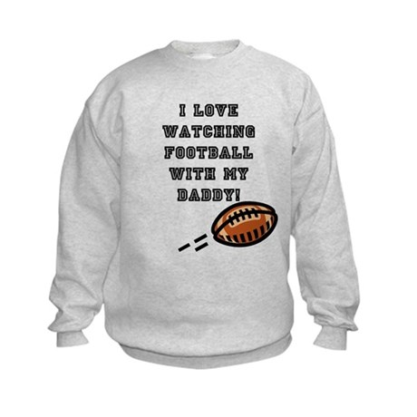 football with dad Kids Sweatshirt