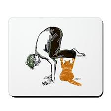 yoga man buddy Mousepad