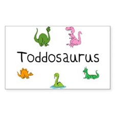 Toddosaurus Rectangle Decal