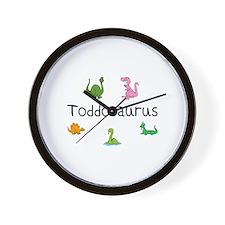 Toddosaurus Wall Clock
