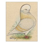 Indigo Tumbler Pigeon Small Poster