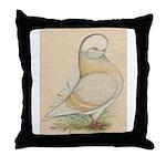 Indigo Tumbler Pigeon Throw Pillow