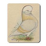 Indigo Tumbler Pigeon Mousepad