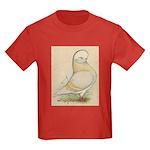 Indigo Tumbler Pigeon Kids Dark T-Shirt