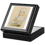 Indigo Tumbler Pigeon Keepsake Box
