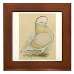 Indigo Tumbler Pigeon Framed Tile