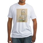 Indigo Tumbler Pigeon Fitted T-Shirt