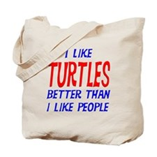 I Like Turtles Tote Bag