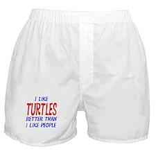 I Like Turtles Boxer Shorts
