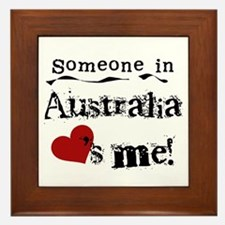 Australia Loves Me Framed Tile