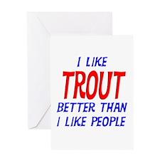 I Like Trout Greeting Card