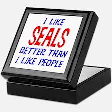 I Like Seals Keepsake Box