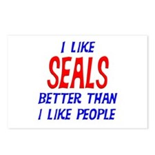 I Like Seals Postcards (Package of 8)