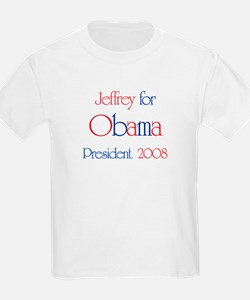 Jeffrey for Obama 2008 T-Shirt
