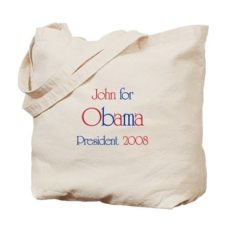John for Obama 2008 Tote Bag