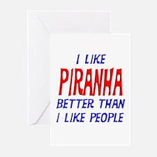 I Like Piranha Greeting Cards (Pk of 10)